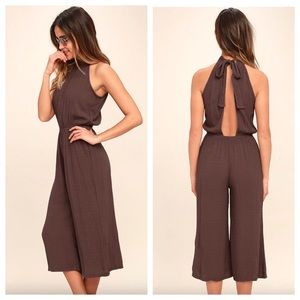 O'Neill Ronson Dusty Purple Romper. Open Back